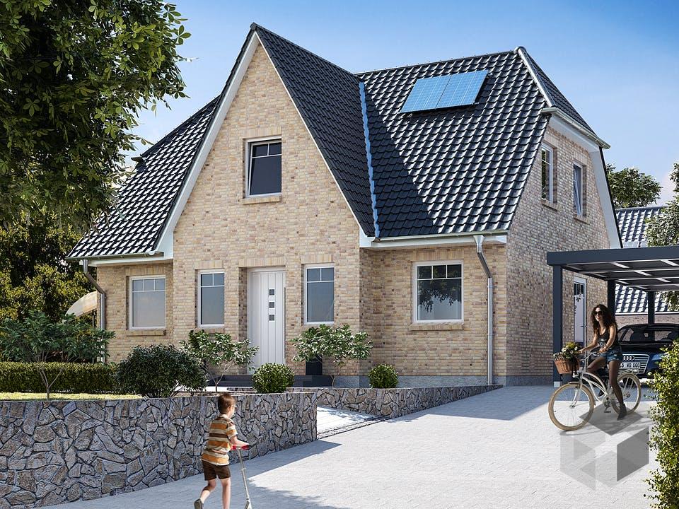 Friesenhaus 125 von WBI Hausbau Außenansicht