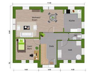 Friesenhaus 160 von WBI Hausbau Grundriss 1