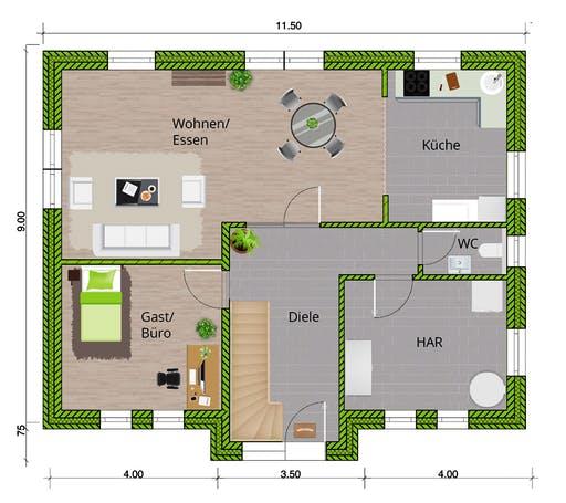WBI - EFH Friesenhaus 160 Floorplan 1