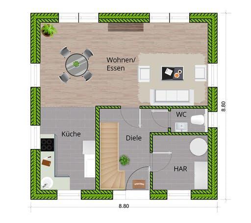 WBI - EFH Landhaus 115 Floorplan 1
