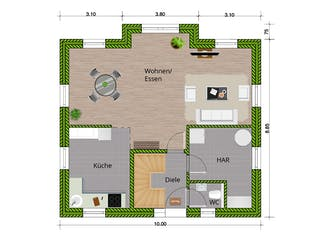 Landhaus 140 von WBI Hausbau Grundriss 1