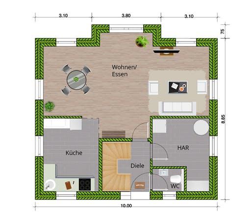 WBI - EFH Landhaus 140 Floorplan 1