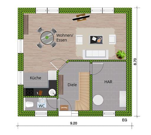 WBI - EFH Stadthaus 120 Floorplan 1