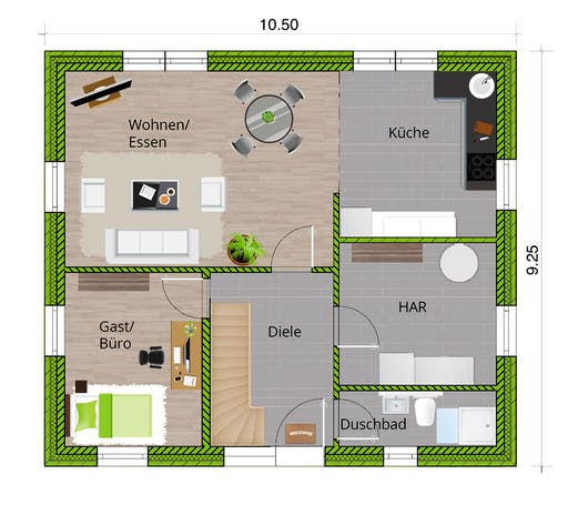 WBI - EFH Stadthaus 150 Floorplan 1