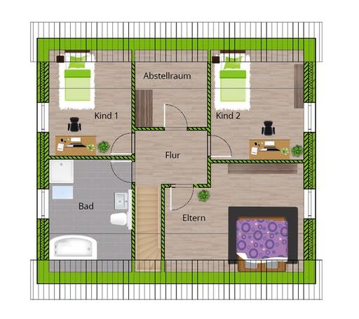 WBI - EFH Stadthaus 150 Floorplan 2