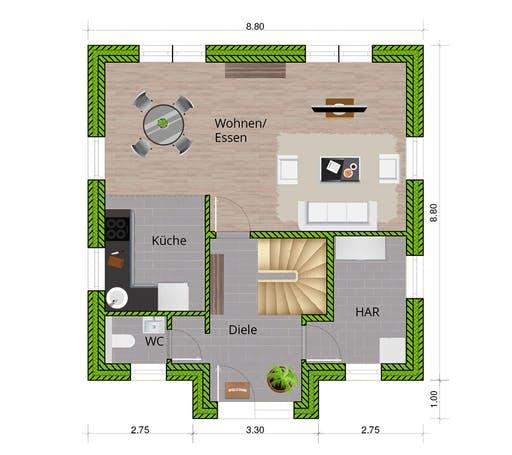 WBI - EFH Stadtvilla 120 Floorplan 1