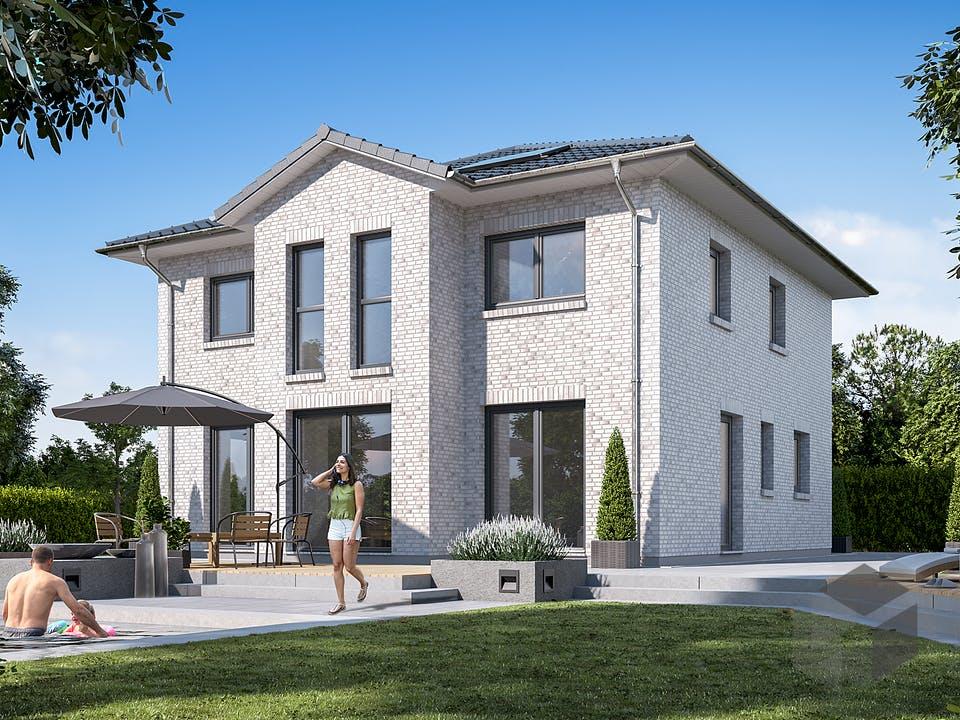 Stadtvilla 150 von WBI Hausbau Außenansicht