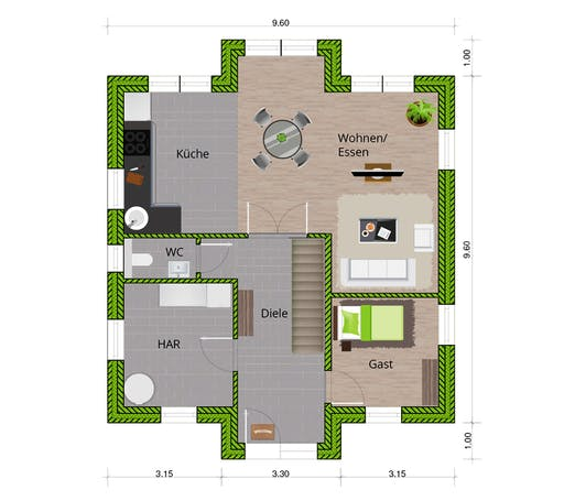 WBI - EFH Stadtvilla 150 Floorplan 1