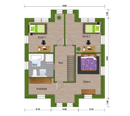 WBI - EFH Stadtvilla 150 Floorplan 2