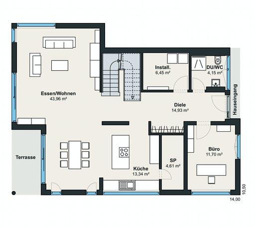 Weberhaus Kundenhaus 19 Floorplan 1