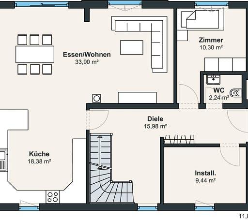 Kundenhaus Balance 300 Floorplan 1