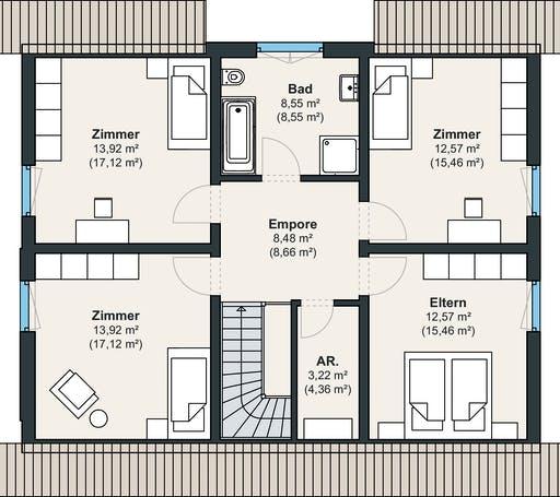 Kundenhaus Balance 300 Floorplan 2