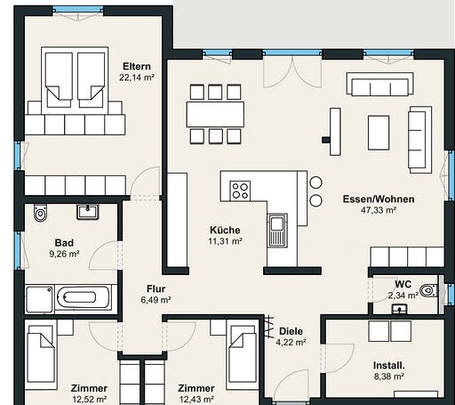 Weberhaus myLife 400 Floorplan 1