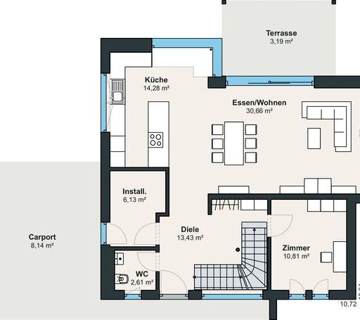 Weberhaus Ausstellungshaus Wenden-Hünsborn Generation5.5 110 Floorplan 1