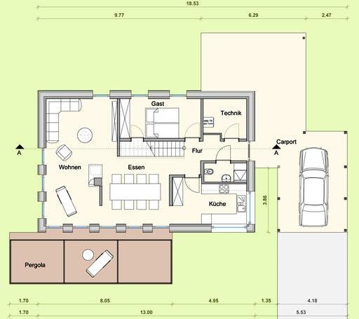 Weizenegger - Haus KB Floorplan 1