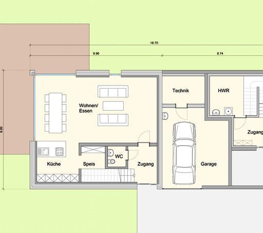 Weizenegger - Zweifamilienhaus KW Floorplan 1