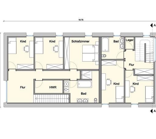 Weizenegger - Zweifamilienhaus KW Floorplan 2