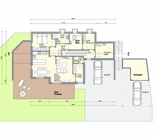Weizenegger - Zweifamilienhaus RG Floorplan 1