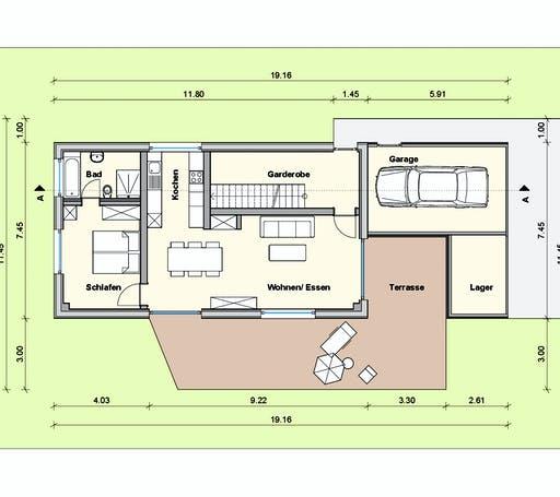 Weizenegger - Haus SA Floorplan 1