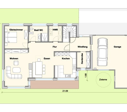 Weizenegger - Haus SB Floorplan 1