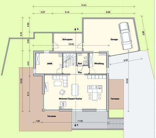 Weizenegger - Haus WW Floorplan 1