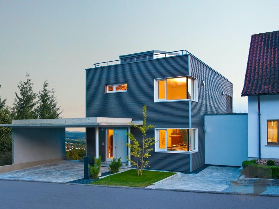 Wiesenhütter - Kundenhaus von Baufritz Außenansicht