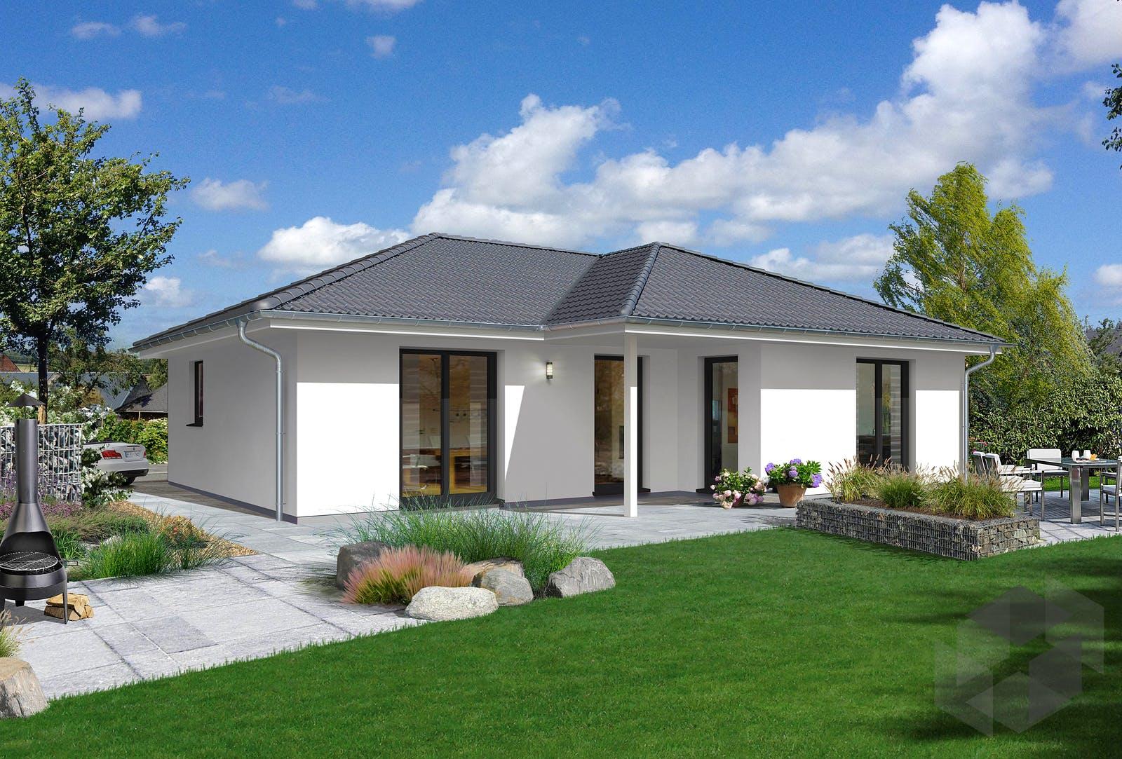 massivhaus winkelbungalow 108 von town country haus. Black Bedroom Furniture Sets. Home Design Ideas