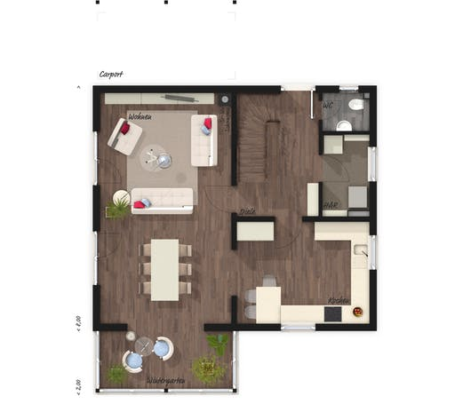 Wintergartenhaus 119 Elegance Floorplan 1