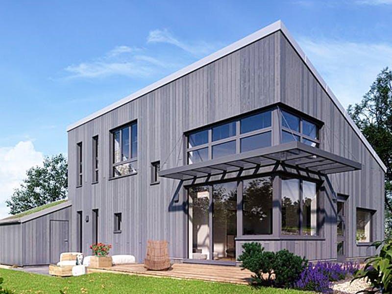 Modernes Holzhaus von der Zimmerei Witt
