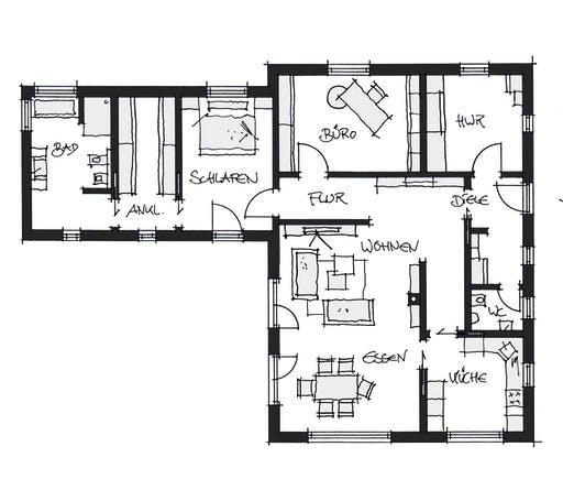 Wolfsystem Bungalow Osterhofen Floorplan 1
