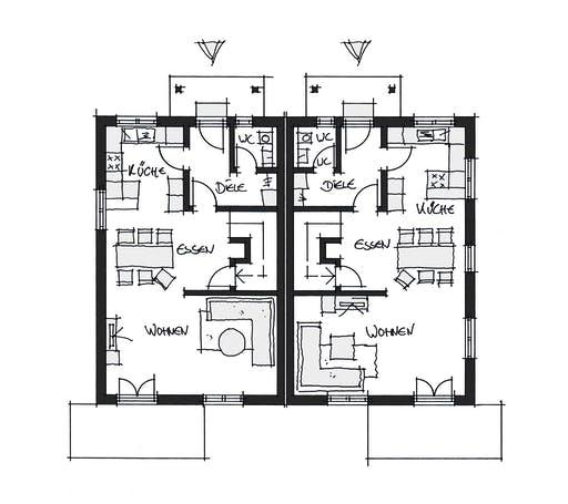 Wolfsystem Doppelhaus Fürstenfeldbruck Floorplan 1