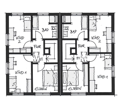 Wolfsystem Doppelhaus Fürstenfeldbruck Floorplan 2