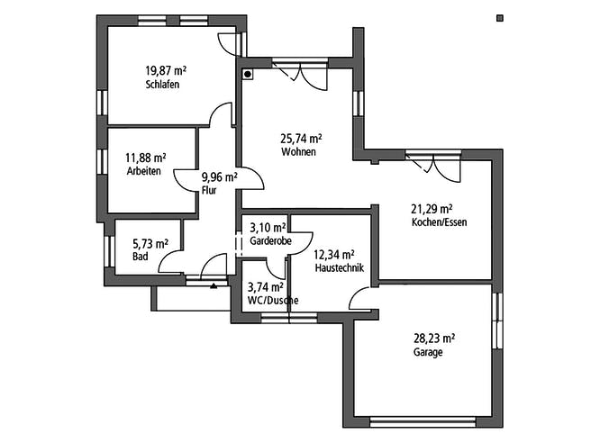 Ytong Bungalow 114 Floorplan 1