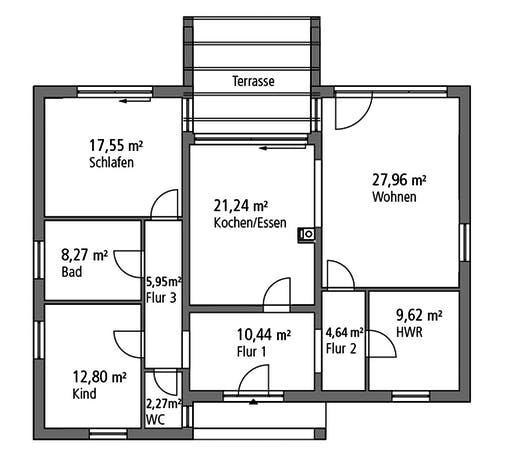 Ytong Bungalow 120 Floorplan 1