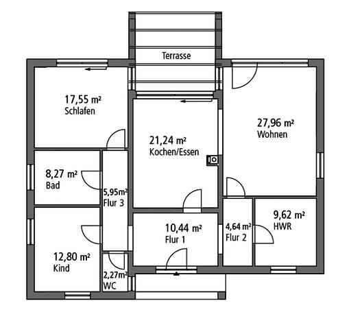 Ytong Bungalow 121 Floorplan 1