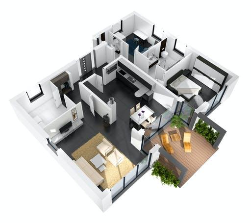 Ytong Bungalow 121 Floorplan 2
