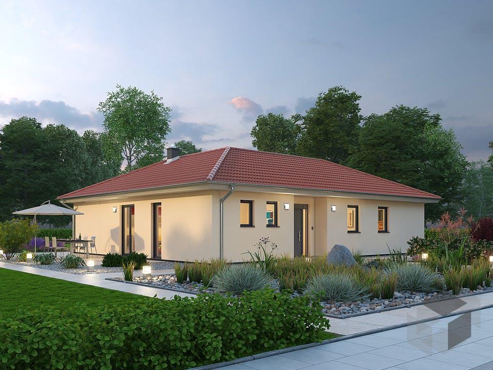 Bungalow BGL 122 von Ytong Bausatzhaus Außenansicht