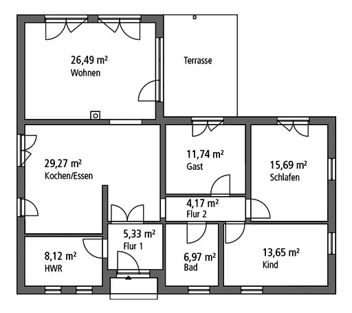 Ytong Bungalow 122 Floorplan 1