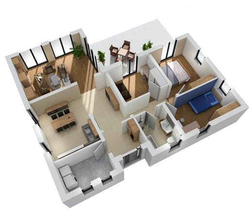 Ytong Bungalow 122 Floorplan 2