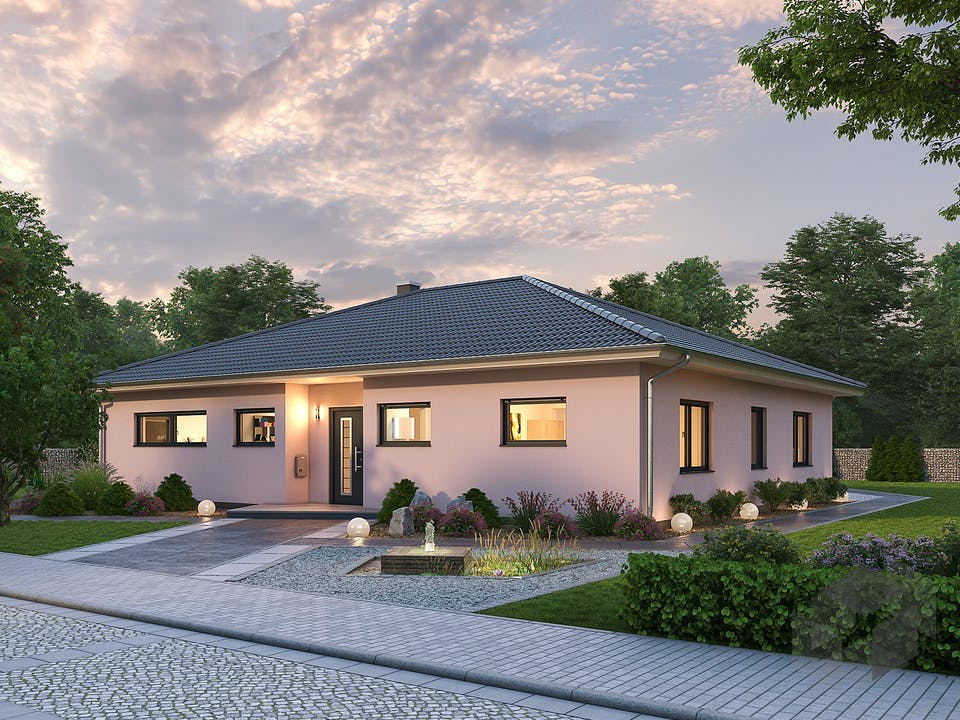 Bungalow BGL 154 von Ytong Bausatzhaus Außenansicht