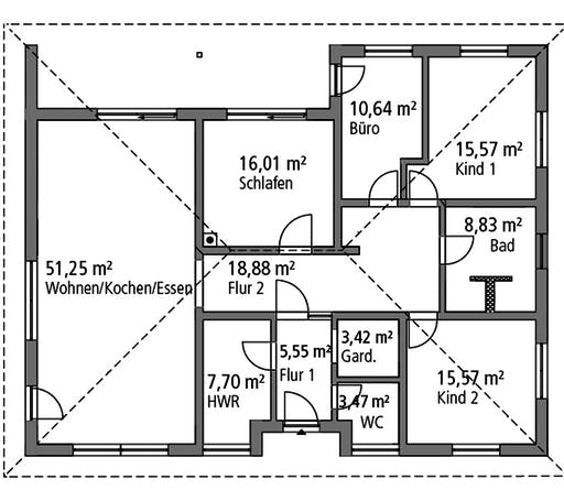 Ytong Bungalow 154 Floorplan 1