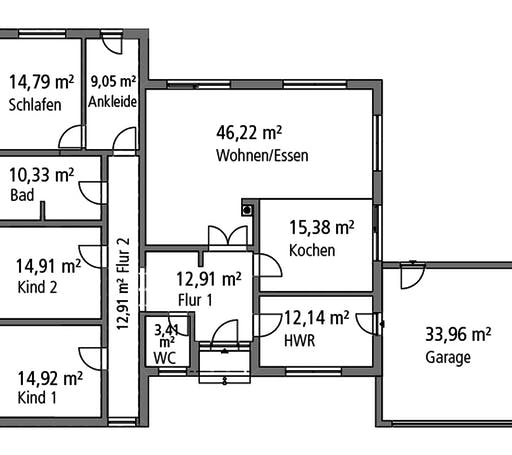 Ytong Bungalow 168 Floorplan 1