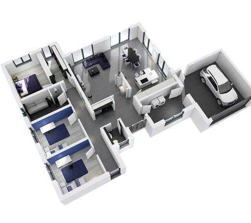 Ytong Bungalow 168 Floorplan 2