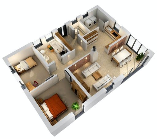 Ytong Bungalow 87 Floorplan 2
