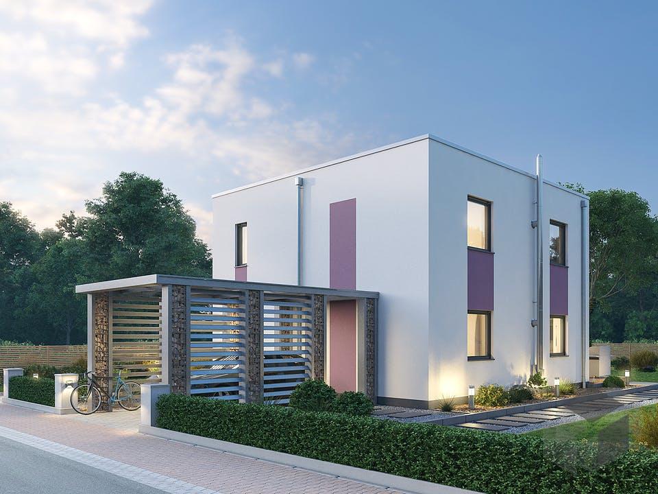 Einfamilienhaus BHS 122 von Ytong Bausatzhaus Außenansicht