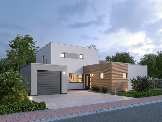 Einfamilienhaus BHS 146 von Ytong Bausatzhaus Außenansicht 1