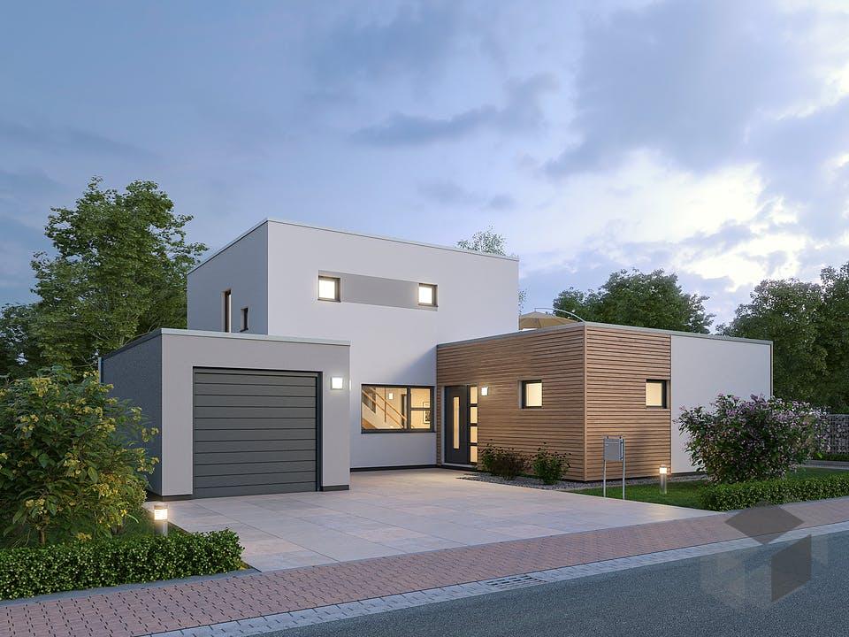 Einfamilienhaus BHS 146 von Ytong Bausatzhaus Außenansicht