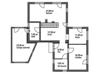 Einfamilienhaus BHS 146 von Ytong Bausatzhaus Grundriss 1