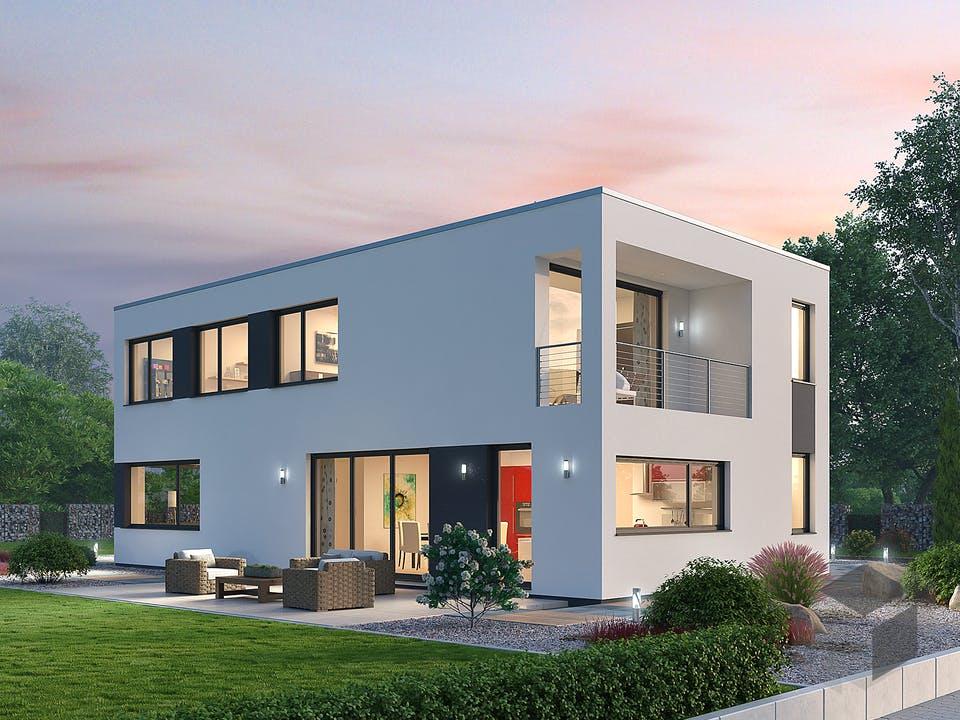 Einfamilienhaus BHS 182 von Ytong Bausatzhaus Außenansicht