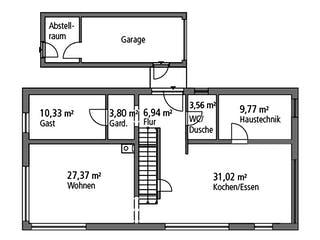 Einfamilienhaus BHS 182 von Ytong Bausatzhaus Grundriss 1